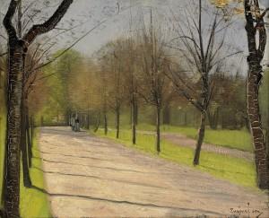 Promenerande Par by Eugène JANSSON