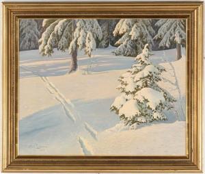 Vinterlandskap by Ernst LINDGREN