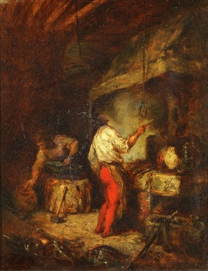 Blacksmith by Eugène DELACROIX