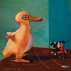 Stilleben Med Pingvin by Gunnar LÖBERG