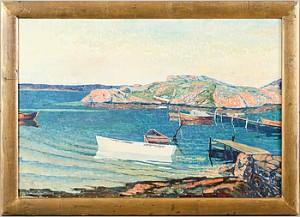Skärgårdsmotiv Med Båtar by Verner HOLMQUIST