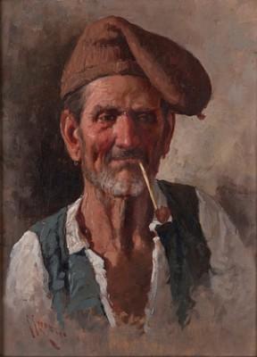 Fiskare Som Röker Pipa by Giuseppe GIARDIELLO