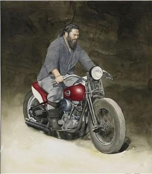 Man På Motorcykel by John-Erik FRANZÉN