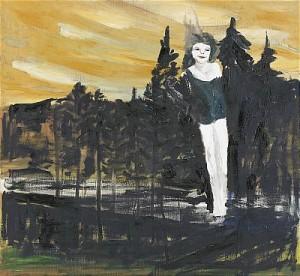 Skogsfrun Bykar (fritt Efter Modellteckning Av Rodin) by Hans WIGERT