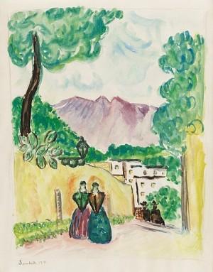 Motiv Från Palma Di Mallorca by Gösta SANDELS