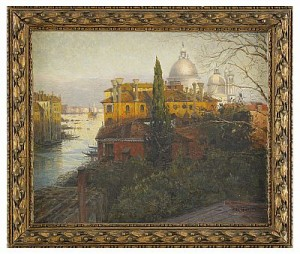 View Of Venice by Alexei Vasilievich HANZEN