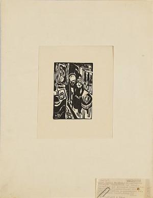 Das Stiftsfräulein Am Nähtisch by Ernst Ludwig KIRCHNER