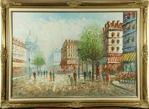 Parisian Boulevard Scene by Constantin KLUGE