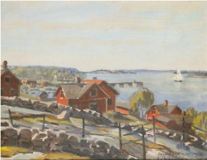 Skärgårdsmotiv - Degerby by Erik JUSELIUS