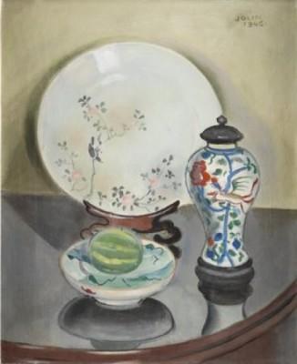 Stilleben Med Kinesiskt Porslin by Einar JOLIN
