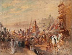 Religious Procession In Cairo by Konstantin Egorovich MAKOVSKY