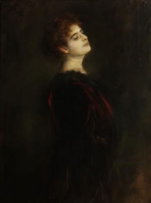 Bildnis Frau Elsa Mothwurf by Franz Seraph Von LENBACH