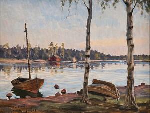 Strandbjörkar by Erik JUSELIUS