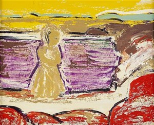 Flicka Vid Strand by Gunnar LÖBERG