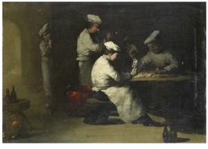 Kortspelande Kockar by Théodule Augustin RIBOT