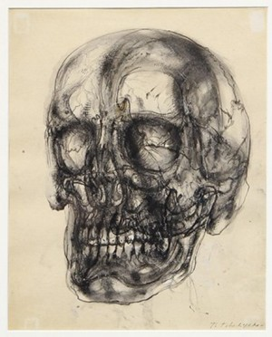 Untitled (skull) by Pavel Feodorovich TCHELITCHEW