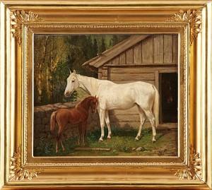 Hästar by Arvid Fredrik LÖNNROTH