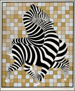 Zeebras by Victor VASARELY