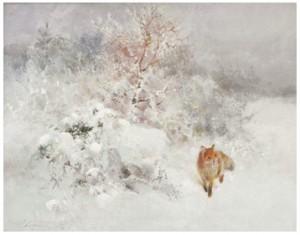 Räv I Vinterlandskap by Mosse STOOPENDAAL