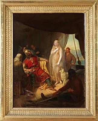 Ragnar Lodbrog Möter Kraka by Mårten Eskil WINGE