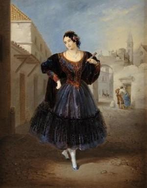 Le Départ Pour Le Bal by Manuel CABRAL AGUADO Y BEJARANO