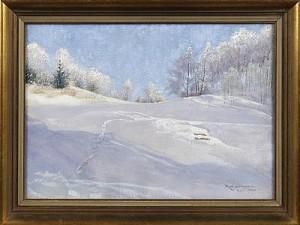 Vinterlandskap by Robert LUNDBERG