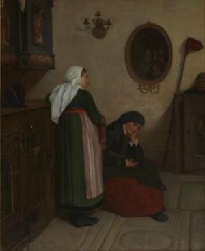 Kyrkointeriör Med Kvinnor by Jakob KULLE