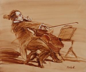 Violoniste Au Pupitre by Claude WEISBUCH
