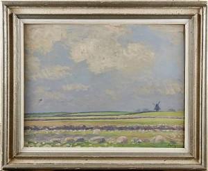 Fälten Och Kvarnen - öland by Arthur PERCY