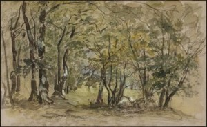 Skogsdunge by Alfred WAHLBERG