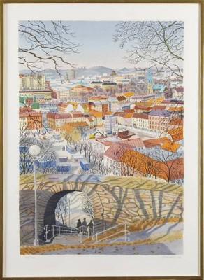 Stadsmotiv by Mona HUSS WALLIN
