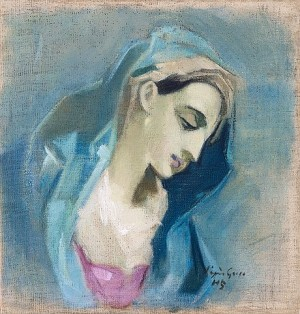 Blå Madonna by Helene SCHJERFBECK
