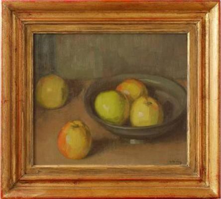 Stilleben Med äpplen by Leopold MORSING