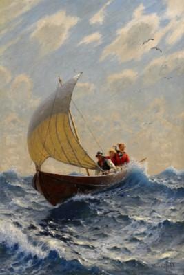Sällskap I Roddbåt by Hans DAHL