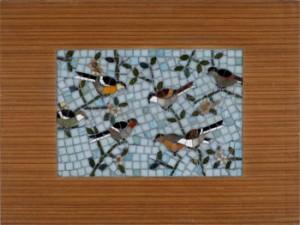 Långväga Vänner, Mosaik I Träram by Ernst BILLGREN