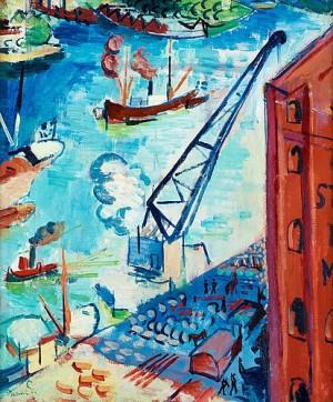 Utsikt över Stadsgården Mot Kastellholmen by Isaac GRÜNEWALD