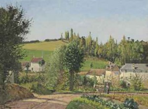 Hameau Aux Environs De Pontoise by Camille PISSARRO
