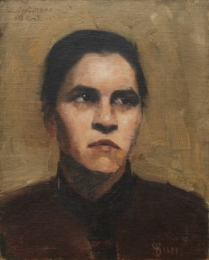 Porträtt Av Louise Amans by Wilhelmina 'Mina' CARLSON-BREDBERG