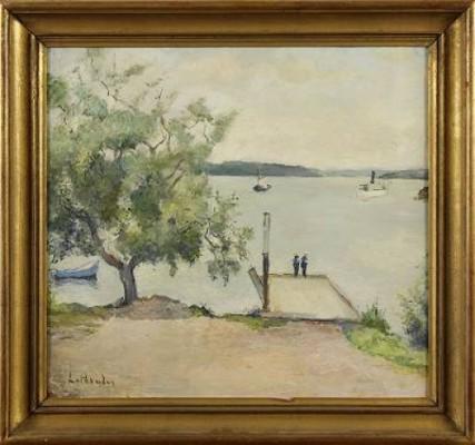 Sjömän Vid ångbåtsbryggan by Carl LUTHANDER