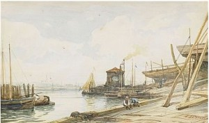 Harbour Scene by Alexei Petrovich BOGOLIUBOV