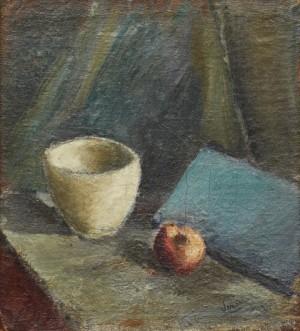 Stilleben Med Kopp Och äpple by Ivan IVARSON