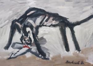Chat Et Oiseau by Vladimir Igorevich YAKOVLEV