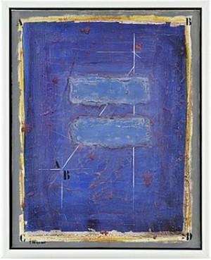 Deux Bleus Horizontaux by James COIGNARD