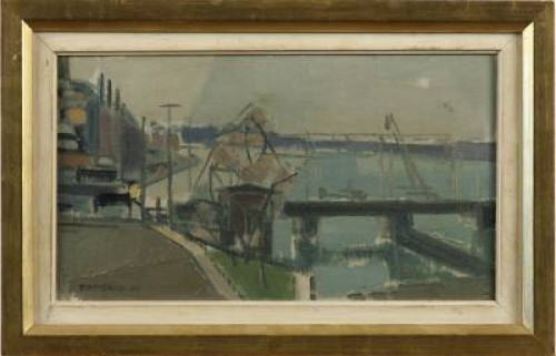 Järnvägsbron Vid Slussen by Tore WIDERYD
