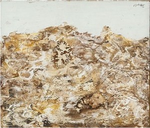 Paysage Au Ciel Vert Clair by Jean DUBUFFET