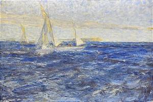 Segelbåtar, Fjällångsfjärden by Johan Axel Gustaf 'Jag Acke' ACKE