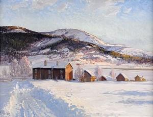 Vinterlandskap - åre by Carl BRANDT