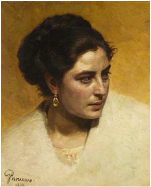 Portrait Of A Woman by Ilya Efimovich REPIN