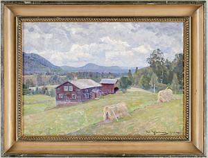 Landskap Med Gård by Carl JOHANSSON