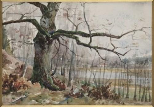 Höstlandskap by Herman NORRMAN